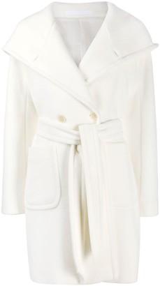 Tagliatore Tie-Fastening Wool Coat