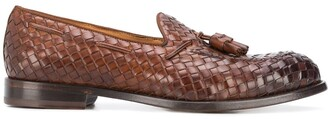 Doucal's Tassel-Embellished Woven Loafers