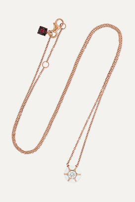 Selim Mouzannar 18-karat Rose Gold, Enamel, Diamond And Ruby Necklace - one size
