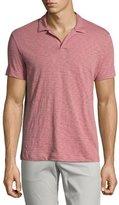 Theory Willem Nebulous Slub Polo Shirt, Pink