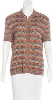 Missoni Knit Button-Up Top