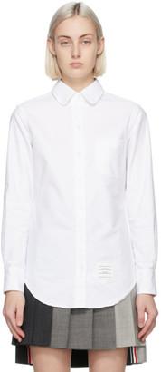 Thom Browne White Classic Round Collar Shirt