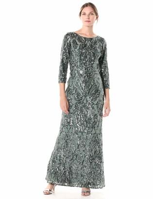 Cachet Women's Long Sleeve Sequin Dress
