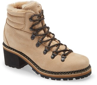 Montelliana Ninfea Genuine Shearling Lined Hiker Boot