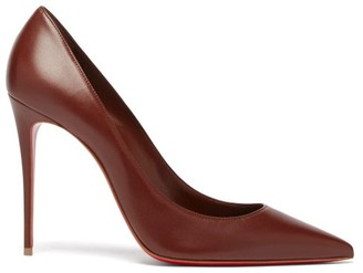 Christian Louboutin Kate 100 Leather Pumps - Brown