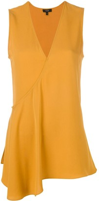 Theory V-Neck Asymmetric Blouse