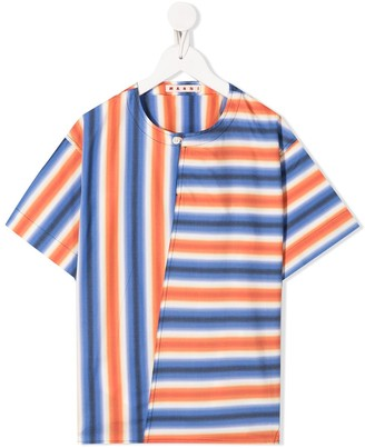 Marni Striped Round Neck Top