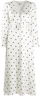 Olivia Rubin Polka-Dot Flared Dress