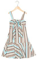 Helena Girls' Tie-Accented Striped Dress
