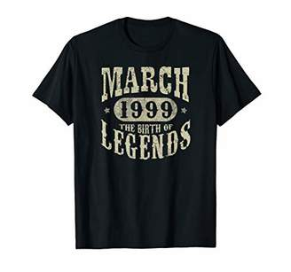 IDEA 21 Years 21st Birthday Gift March 1999 Birth of Legend T-Shirt