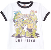 Junk Food Clothing Eat Pizza Ninja Turtles Tee (Toddler Boys)