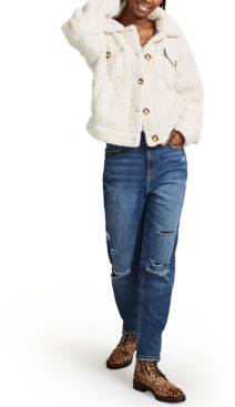 Vanilla Star Juniors' High-Rise Destructed Mom Jeans