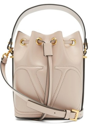 Valentino V-logo Leather Bucket Bag - Light Purple