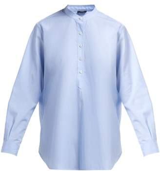 Joseph Luke Striped Cotton Shirt - Womens - Blue Multi