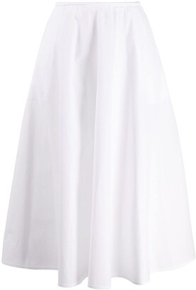 Courreges High-Waisted Pleated Skirt