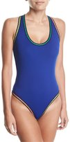 LaBlanca La Blanca Threading Scoop-Neck Cross-Back One-Piece Swimsuit
