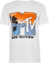River Island Boys white 'MTV' print T-shirt