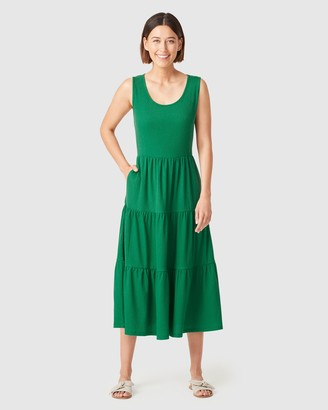 French Connection Women's Dresses - Jersey Tiered Midi Dress - Size One Size, M at The Iconic