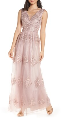 Chi Chi London Aubree Embroidered Evening Dress