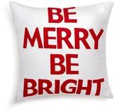 "Alexandra Ferguson Be Merry Be Bright Decorative Pillow, 16"" x 16"""