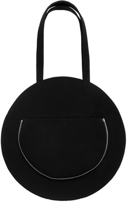 Make What You Will Round Flat Tote In Black