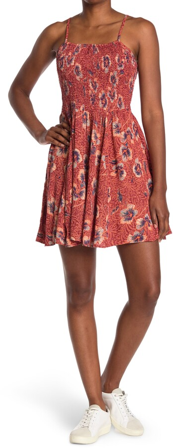 Thumbnail for your product : Angie Floral Smocked Sleeveless Dress