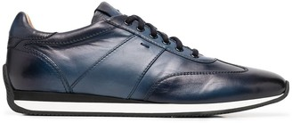 Santoni Ombre Leather Sneakers