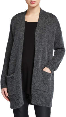 Eileen Fisher Petite Air Wool/Mohair Shawl-Collar Cardigan