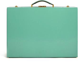 Mark Cross Medium Grace Leather Trunk Top Handle Bag
