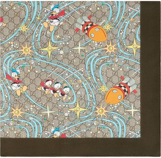 Gucci x Disney Donald Duck-print scarf