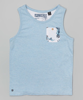 Micros Heather Baby Blue Gulls Tank - Toddler