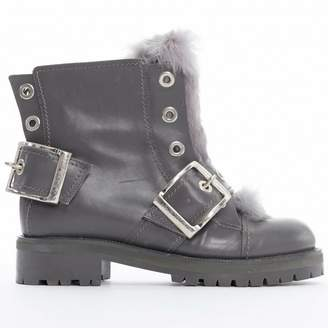 Alexander McQueen \N Grey Leather Ankle boots