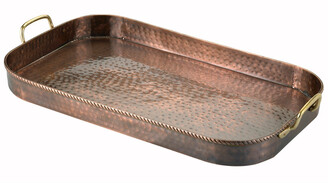 Old Dutch 24In Hammered Antique Copper Oblong Tray