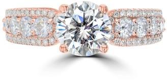 La Vita Vital 2.55ct Vintage Moissanite Engagement Ring 14 Karat Rose Gold