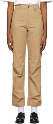 Ader Error Beige Crumple Trousers