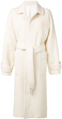 Ami Raglan Sleeves Belted Long Coat