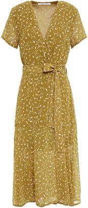 Samsoe & Samsoe Samse Samse Klea Floral-print Chiffon Midi Wrap Dress