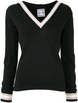 Chanel Pre Owned contrast trim jumper