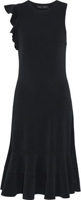 Proenza Schouler Ruffle-trimmed Stretch-knit Dress
