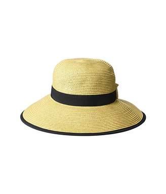 Scala Paper Braid Round Crown Hat