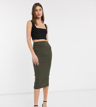 Asos DESIGN Tall high waist longerline pencil skirt
