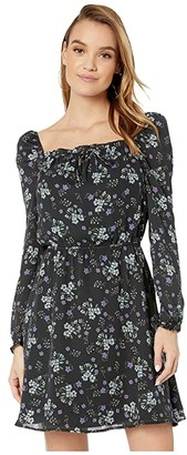 Cupcakes And Cashmere Elsie 'Meadow Floral' Square Neck Dress (Night Sky) Women's Dress