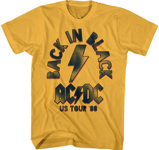 American Classics Men's Tee Shirts GINGER - AC/DC Ginger 'Back in Black US Tour' Tee - Men