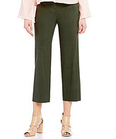 Antonio Melani Semi Stretch Linen Crop Pant