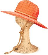 San Diego Hat Company Women's Sunhats GINGER - Ginger Chin-Cord Ribbon Floppy Hat