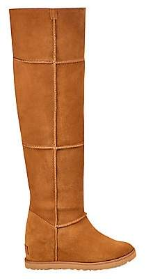 UGG Women's Classic Femme Over-The-Knee Sheepskin-Lined Suede Boots
