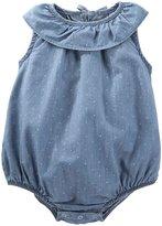 Osh Kosh Bodysuit (Baby) - Chambray Dot - 24 Months