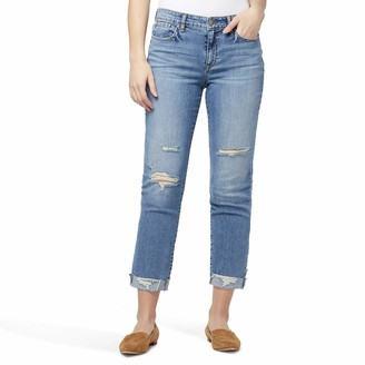William Rast Women's Misses Vintage Cuffed Boyfriend Jean