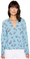 Brigitte Bailey Alia Long Sleeve Wrap Top Women's Clothing