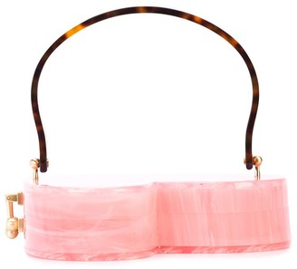Edie Parker Heartly heart-shaped clutch bag